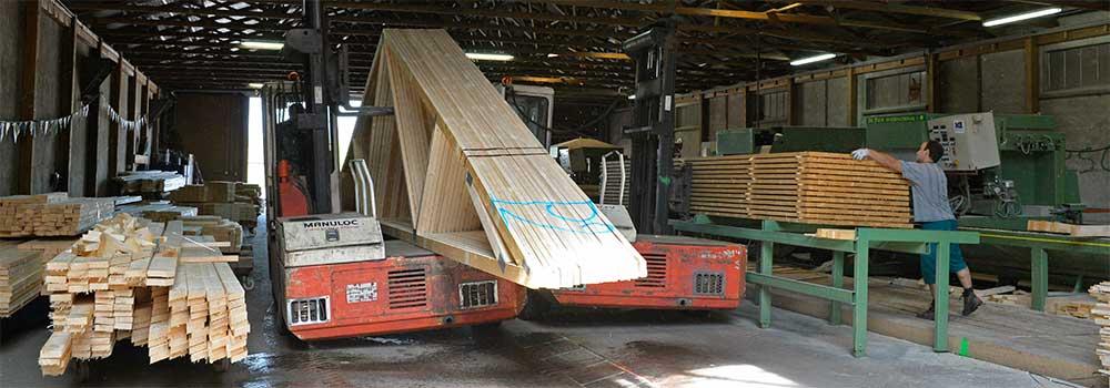 Fabrication - Atelier charpentes industrielles - Scie Depauw